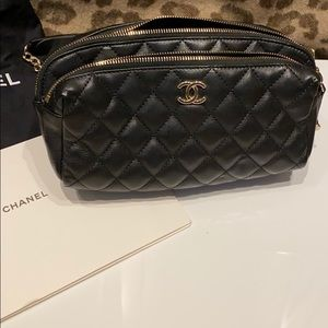 Chanel quilted street waist bag